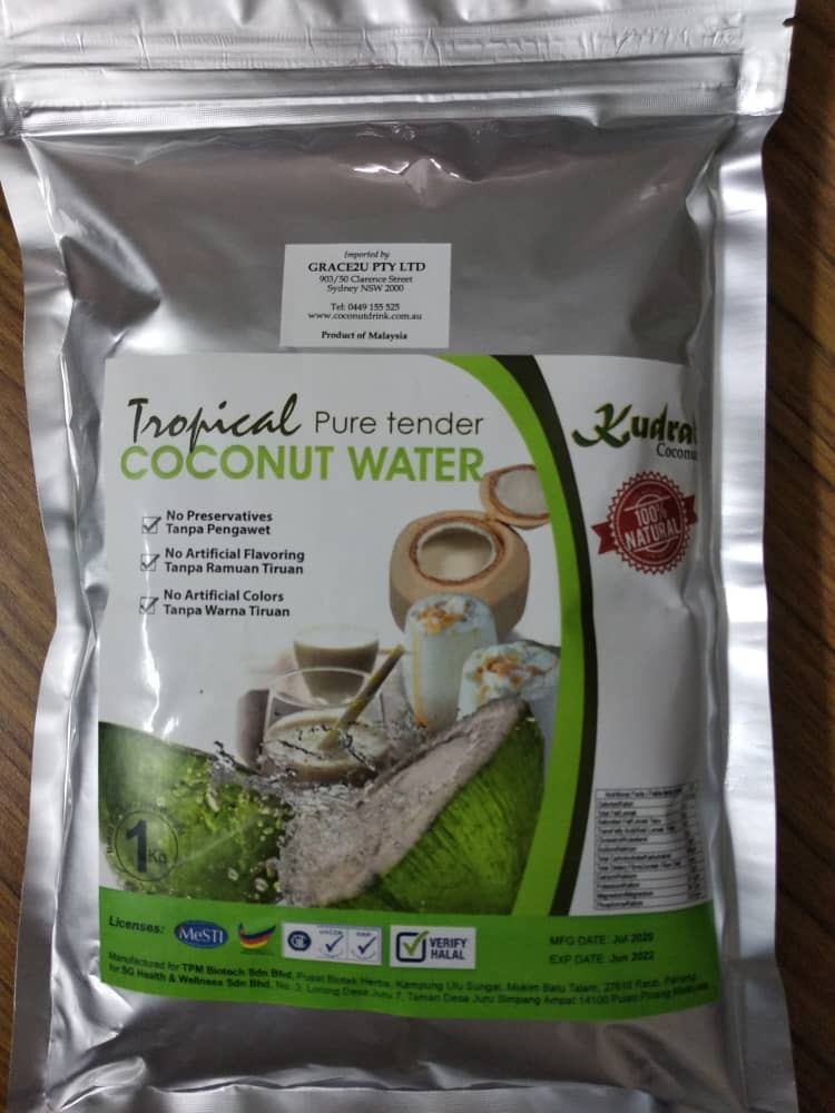 Coconut drink 1kg pouch packaging