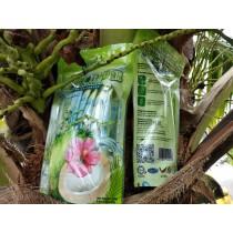 Coconut drink in sachet packaging